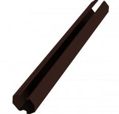 Направляющая 60х20х2500мм коричневый RAL 8017