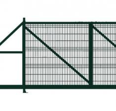 Ворота откатные Profi 2,03х4,0 RAL 6005 влево