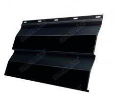Корабельная Доска 0,265 GL 0,5 Quarzit lite с пленкой RAL 9005 черный