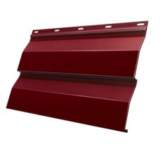 Корабельная Доска 0,265 GL 0,5 Velur20 с пленкой RAL 3009 оксидно-красный