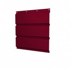 Софит металлический центральная перфорация 0,45 РЕ с пленкой RAL 3003 рубиново-красный