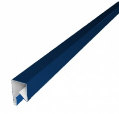 Планка П-образная заборная 17 0,45 PE с пленкой RAL 5005