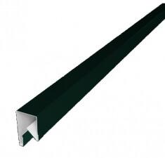 Планка П-образная заборная 17 0,45 PE с пленкой RAL 6005