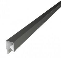 Планка П-образная заборная 17 0,5 PE с пленкой RAL 9002