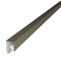 Планка П-образная заборная 20 0,45  PE с пленкой RAL 1015