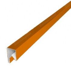 Планка П-образная заборная 20 0,45  PE с пленкой RAL 2004