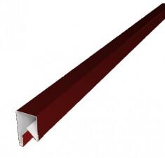 Планка П-образная заборная 20 0,45  PE с пленкой RAL 3011