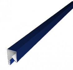 Планка П-образная заборная 20 0,45  PE с пленкой RAL 5002