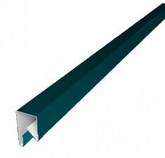 Планка П-образная заборная 20 0,45  PE с пленкой RAL 5021