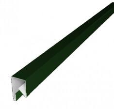 Планка П-образная заборная 20 0,45  PE с пленкой RAL 6002