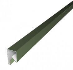 Планка П-образная заборная 20 0,45  PE с пленкой RAL 6019