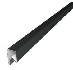 Планка П-образная заборная 20 0,45  PE с пленкой RAL 7005