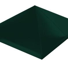 Колпак на столб 390х390 Quarzit с пленкой RAL 6005