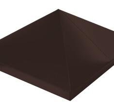 Колпак на столб 390х390 Quarzit с пленкой RAL 8017