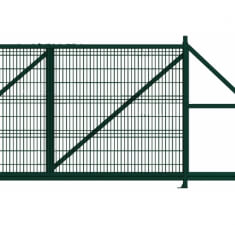 Ворота откатные Profi 2,03х4,0 RAL 6005 вправо