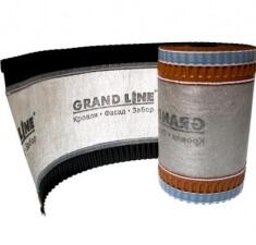 Аэроэлемент конька GRAND LINE коричневый, 240мм (5м)