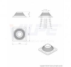 Резиновый уплотнитель Roofseal №4/7 (150-280)