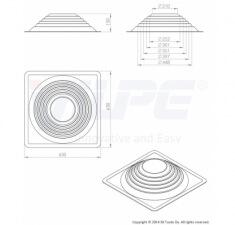 Резиновый уплотнитель Roofseal №6/9 комплект (260-460)
