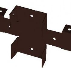 Кронштейн Х коричневый RAL 8017