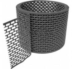 Лента вентиляционная ПВХ черная 100х5000