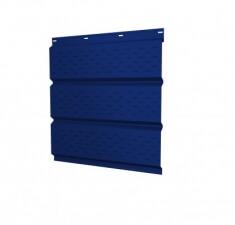 Софит металлический полная перфорация 0,45 PE с пленкой RAL 5002 ультрамариново-синий