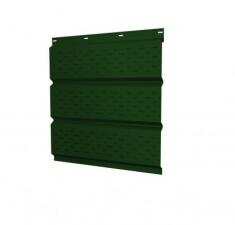 Софит металлический полная перфорация 0,5 Quarzit matt с пленкой RAL 6005 зеленый мох