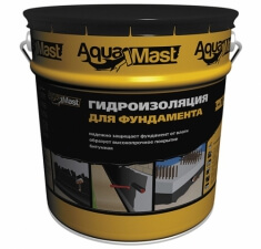 Гидроизоляция для фундаментов битумная AquaMast